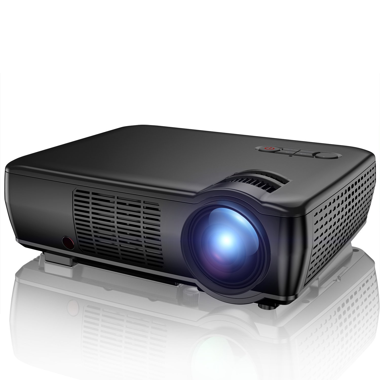 Projector tenker 2400 lumens portable video projector for Portable video projector
