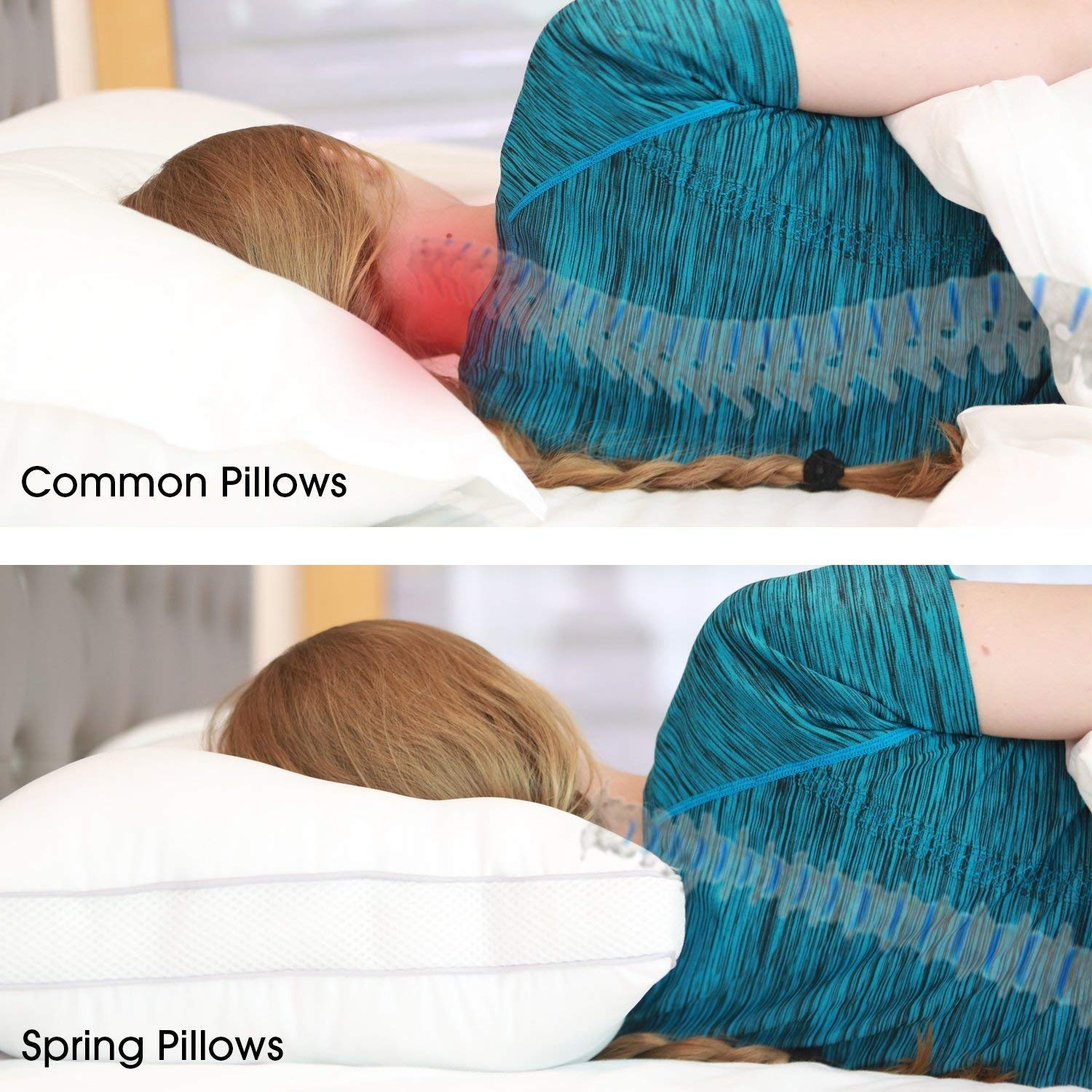 Oxa Spring Bed Pillows Newest Breathable Neck And Back