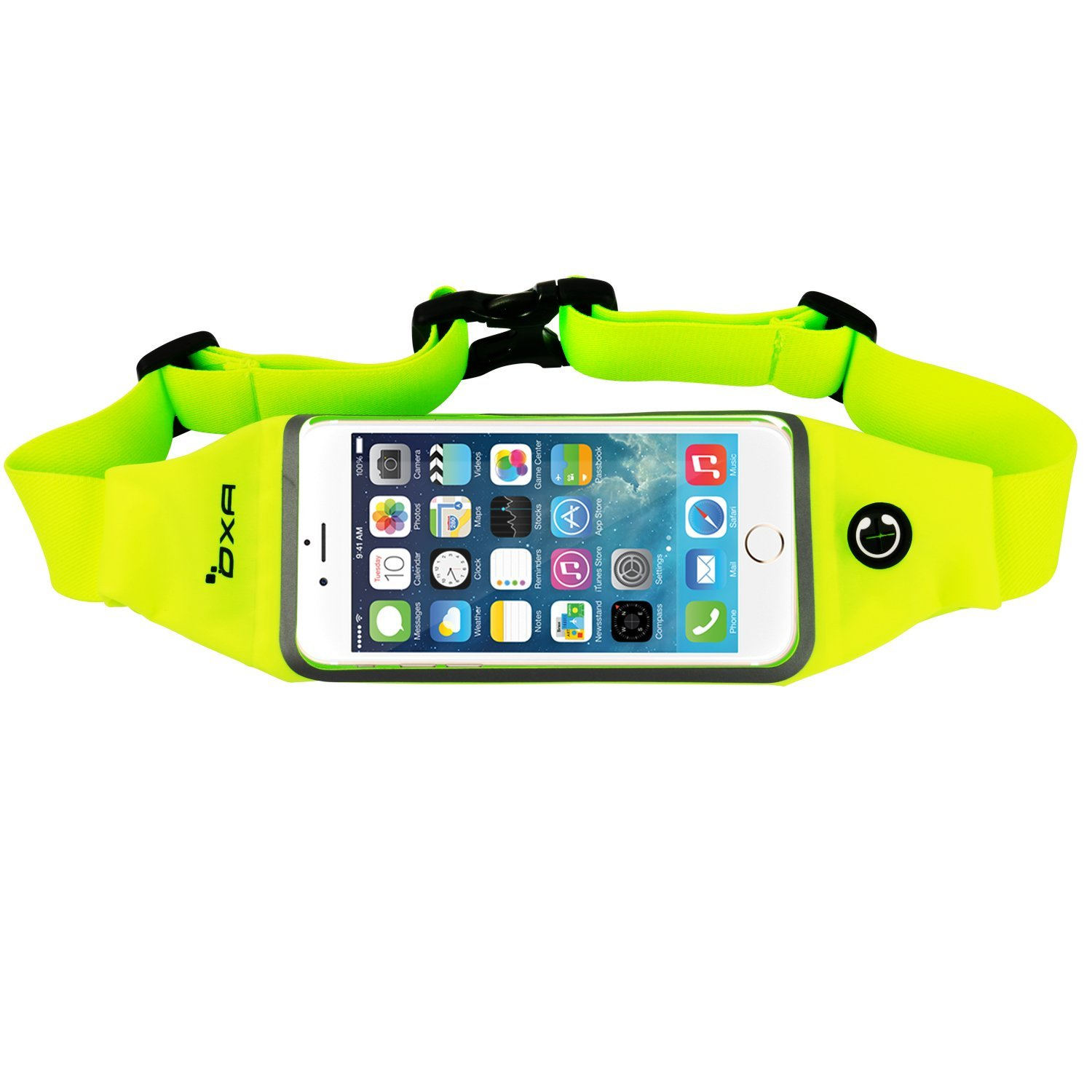 OXA Running Belt Waist Bag - Sweatproof Reflective Sports Waist Pack with  Clear Touch Screen Window - Adjustable Belt and Earbud Jack for iPhone 6/6S