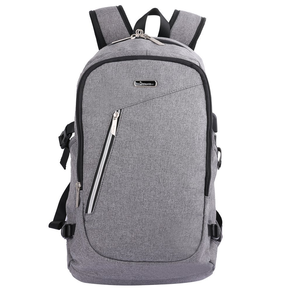 ce5b82c26a8b OXA Anti-Theft and Water Resistant Business School Laptop Backpack with USB  Charging Port and Lock Fits up to15.6-Inch Laptop and Notebook